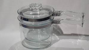 2 quart glass double boiler pot insert