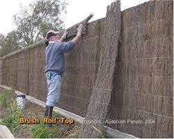 Brush Fencing Melbourne Contractor Diy Panel Prices Plus Local Delivery