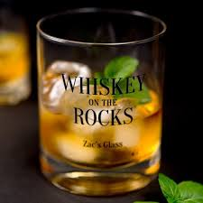 personalized whiskey glasses 4 designs