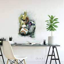 Room Mates Star Wars Vii R2d2 C3po Bb 8 Peel And Stick Giant Wall Decal Reviews Wayfair