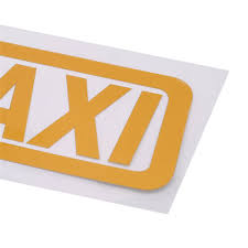 Home Garden 2x Taxi Sticker Cab Driver Limo Yellow Car Window Decal 1 5 X 5 7 Each Ny Ma Children S Bedroom Words Phrases Decals Stickers Vinyl Art