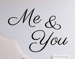You And Me Decal Etsy