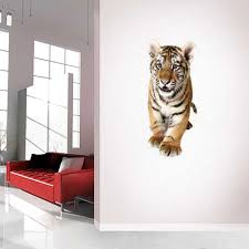 Peel And Stick Tiger Cub Wall Decal Life Size Animal Wall Graphics