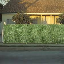 Faux Ivy Privacy Fence 3m Roll Screen Artificial Outdoor Decor Green Amazon Co Uk Garden Outdoors