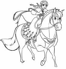 Kleurplaat Frozen 2 Elsa Te Paard 16