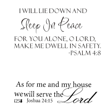 As For Me And My House Serve The Lord Wall Decal Pvc Sticker Christian Sleep In Peace Psalm 4 8 Bible Verse Lettering Wall Decal Decor Quote Inspire Buy Online At Best