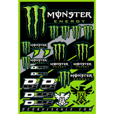 D Cor Visuals Monster Energy Decal Sheet Motosport