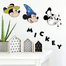 Disney Mickey Mouse 90th Anniversary 20 Piece Vinyl Wall Decal Set Bed Bath Beyond