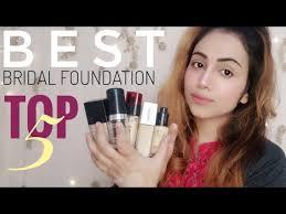 best foundation for bridal makeup