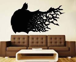 Batman Wall Vinyl Decal Dark Knight Wall Vinyl Sticker Etsy