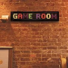 Crystal Art Gallery Game Room Framed Led Sign 114060 The Home Depot