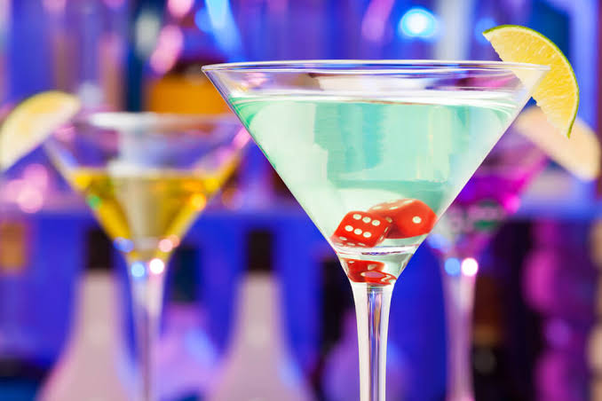 Casino themed cocktails
