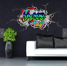 Graffiti Wall Decal Personalized Decal Vinyl Wall Stickers Etsy