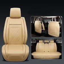 5 seats universal car seat cover pu