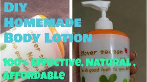 homemade skin lightening body lotion