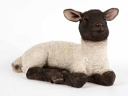 ultra realistic laying lamb collectable