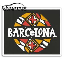 Jump Time For Barcelona Vinyl Stickers Spain Travel Sticker Luggage Laptop Auto Bumper Motor Decal Waterproof Car Accessories Car Stickers Aliexpress