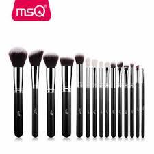 msq 15pcs makeup brush set fundation