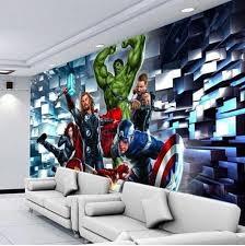 3d Wallpaper The Avengers Customized Wall Mural 3d Wallpaper Mural Wallpaper Wall Murals