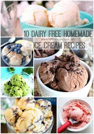 dairy free homemade ice cream recipes