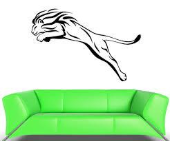 Wall Decal Cheetah Lion Mane Wild Cat Animal Predator Vinyl Stickers Vinyl Aluminum Vinyl Sticker Rollvinyl Stripes For Cars Aliexpress