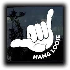 Hang Loose Shaka Ii Window Decal Sticker Custom Sticker Shop