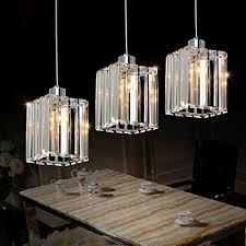lightess crystal cube pendant light