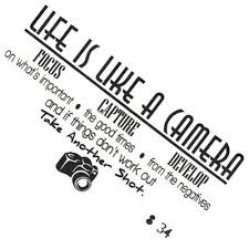 Life Is Like A Camera Quote Wall Sticker Deep Motivation