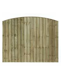 Arched Top Feathered Edge Fencing Panel Estate Garden Timber Fencing