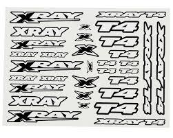 Xray T4 Sticker Decal Sheet White Xra397326 Cars Trucks Amain Hobbies