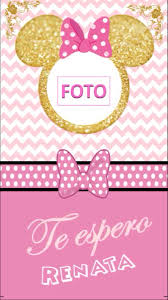 Invitacion Digital Minnie Bebe Video Tarjeta 300 00 En Mercado
