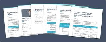 self esteem worksheets and activities