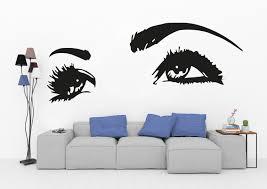 Eyelashes Wall Decal Decal Eyelash Wall Decal Decal Lashes Etsy