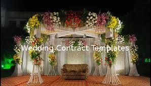 28 wedding contract templates