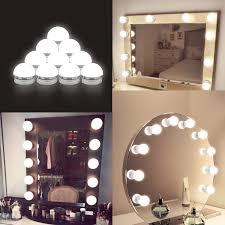 kit hollywood style makeup light bulbs