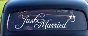 Buy Accentory Just Married Car Decal Window Sticker Window Cling White Decal Sticker For Wedding Day Car Back Window Mirror In Cheap Price On Alibaba Com