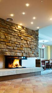cultured stone for a unique fireplace