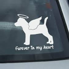Furever Jack Russell Terrier Decal Sew Dog Crazy