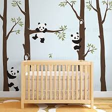 Amazon Com Simple Shapes Trees With Pandas Wall Decal Scheme A 96 243 Cm Tall Trees Home Kitchen