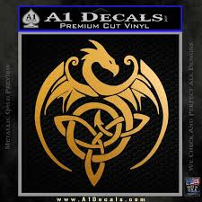 Celtic Dragon Knot Decal Sticker A1 Decals