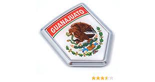 Amazon Com Guanajuato Mexico Flag Mexican Car Emblem Chrome Bike Decal 3d Sticker Mx26 Automotive