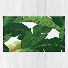 palm leaf area rug 2x3 rug banana