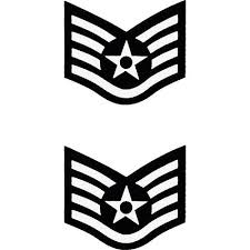 Air Force Enlisted Rank Sticker 2 Pc Usamm