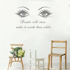 Wall Decal Black Eye Eyelashes Vinyl Stickers Lashes Eyebrows Brows Beauty Salon Wall Sticker Quote Girl Room Home Decor Wall Transfers Decals Wall Transfers Quotes From Joystickers 12 57 Dhgate Com