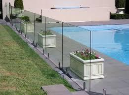 Fencing Glass Panel Transparent Clear Glass Backyard Fences Backyard Glass Fence