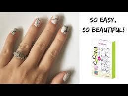 marble nail art incoco coconut nails