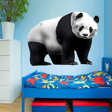 Vwaq Panda Wall Decal Peel And Stick Panda Bear Kids Room Sticker