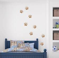 Grizzly Bear Tracks Vinyl Wall Decal Bear Decal Paw Print Decal Grizzly Bear Art Nature Wall Decal Grizzly Art Animals Tracks Vinyl Wall Decals Wall Decals Home Decor