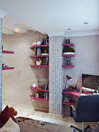 1a Hot Pink Shelving Bespoke Corner Desk Awesome Decors