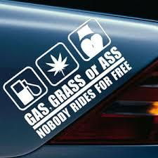 Gas Grass Or Ass Funny Vinyl Decal Car Sticker Vehicle Window Bumper Van Truck Ebay